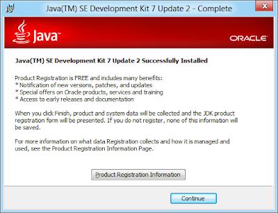 JDK Setup complete