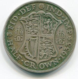 UK Half Crown 1933 lotjun4271