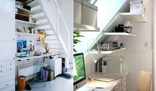 Muebles bajo la escalera ideas para decorar dise ar y for Repisas bajo la escalera
