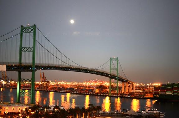 los angeles, LA, bridge, sunset, Princess Cruise, cruise, mexican cruise