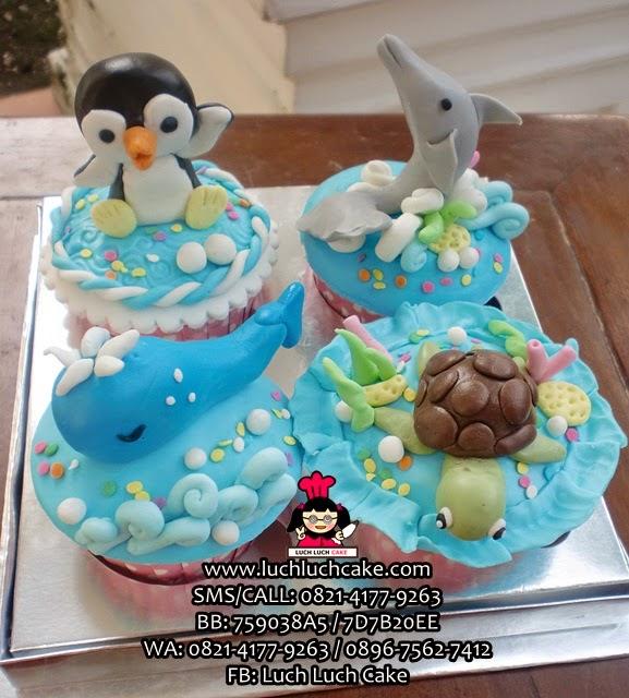 Cupcake Pinguin, Lumba-Lumba, Kura-kura, Ikan Paus (REPEAT ORDER)