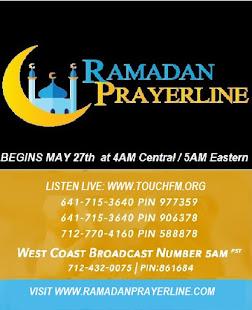 Holy Month of Ramadan Prayerline