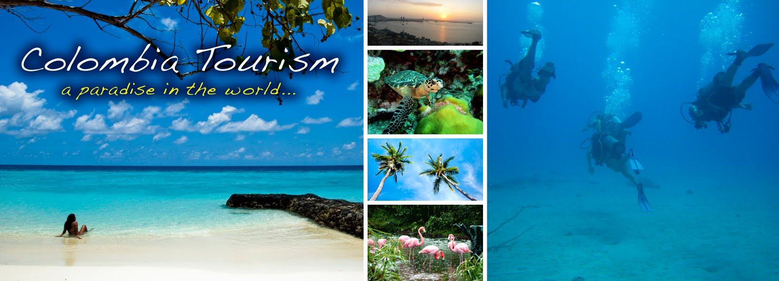 COLOMBIA TOURISM and The Caribbean Ocean, a paradise in the world...