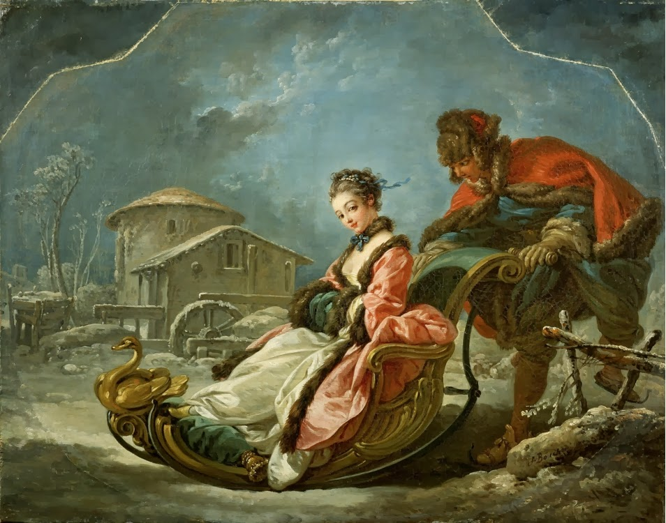 francois boucher Boucher was a prolific painter in all genres as well as a designer for the theatre, and for tapestries, book illustrations and porcelain figures his first commission.