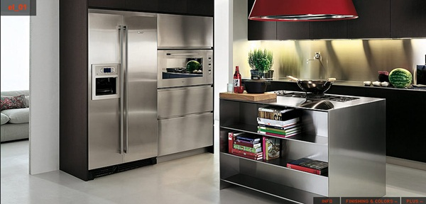 Flexible Stainless Steel Kitchen Designs