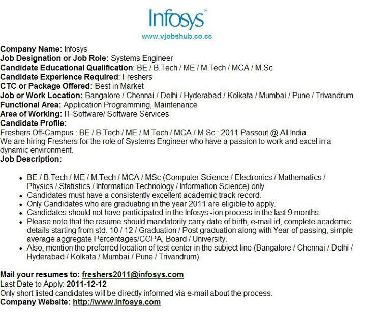 opurtunity4u openings in infosys for freshers 2011