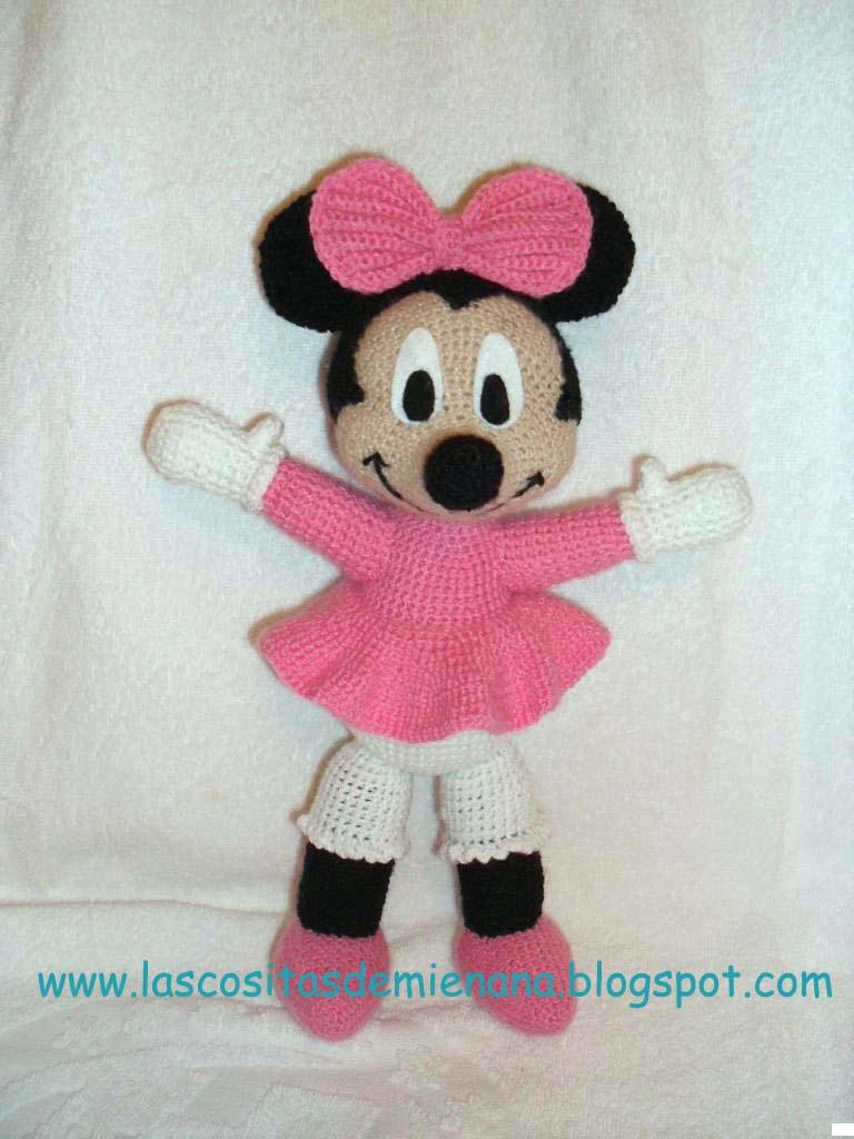 Las cositas de mi enana: Patron de mi version de Minnie (amigurumi)