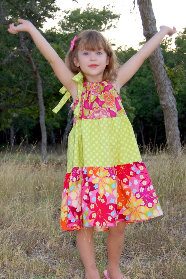 How to Sew a Tiered Pillowcase-Style Dress - Scattered Thoughts of a Crafty Mom by Jamie Sanders