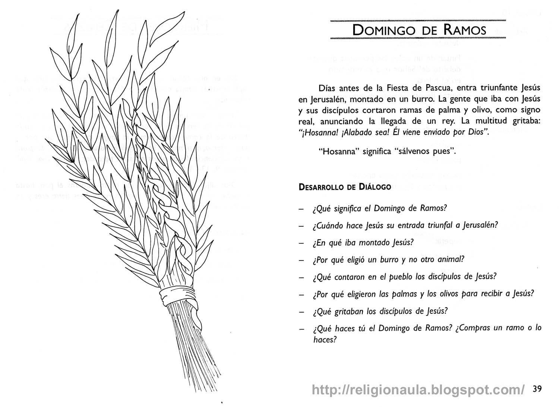 Clases de Religión Católica Chile: Actividades Domingo de Ramos ...
