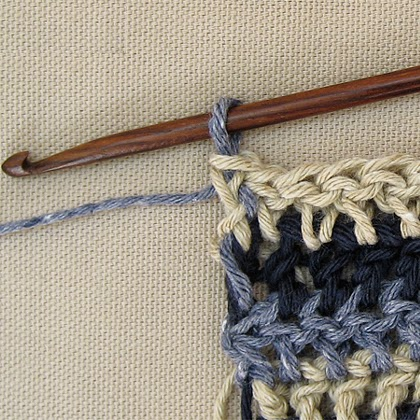 Crochet or knit single row stripes