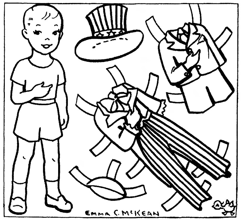 June 28, 1959. A patriotic newspaper paper doll by Emma C. McKean. title=