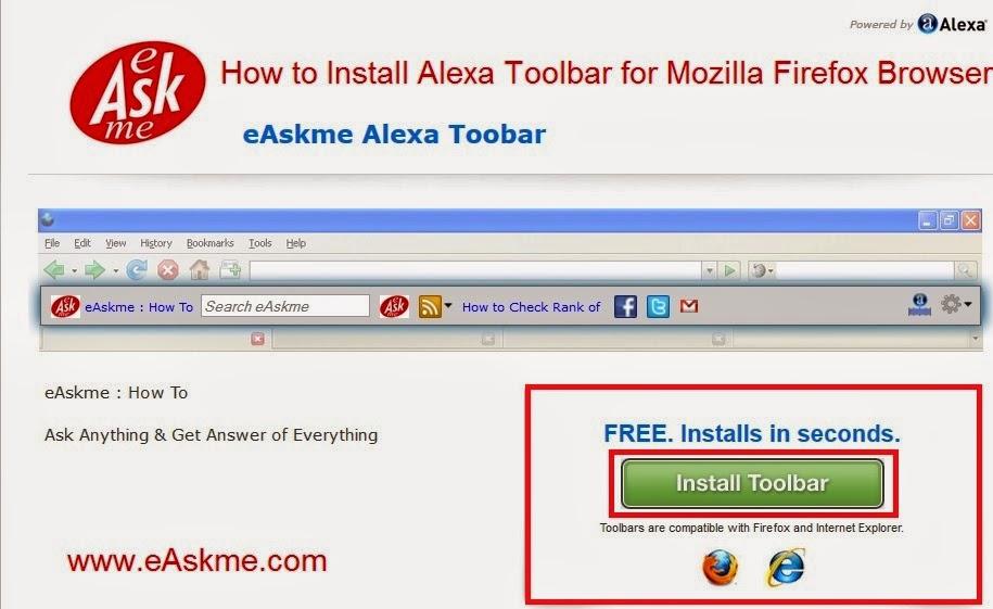 How to Install eAskme Alexa Toolbar : eAskme