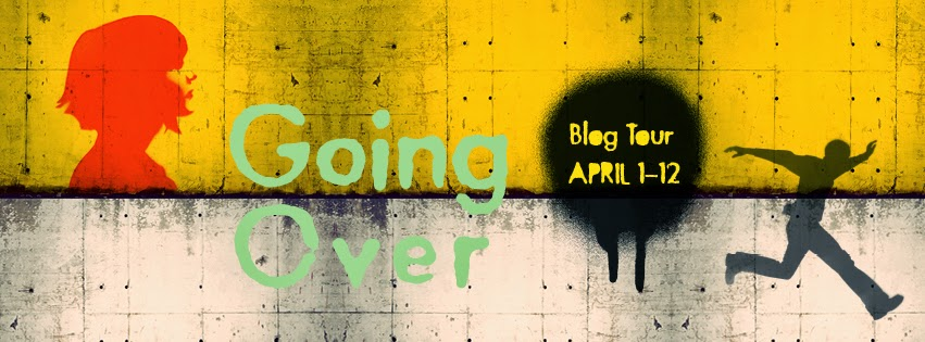 going over blog tour banner