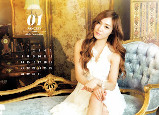 SNSD Tiffany Desk Calendar 2013 2