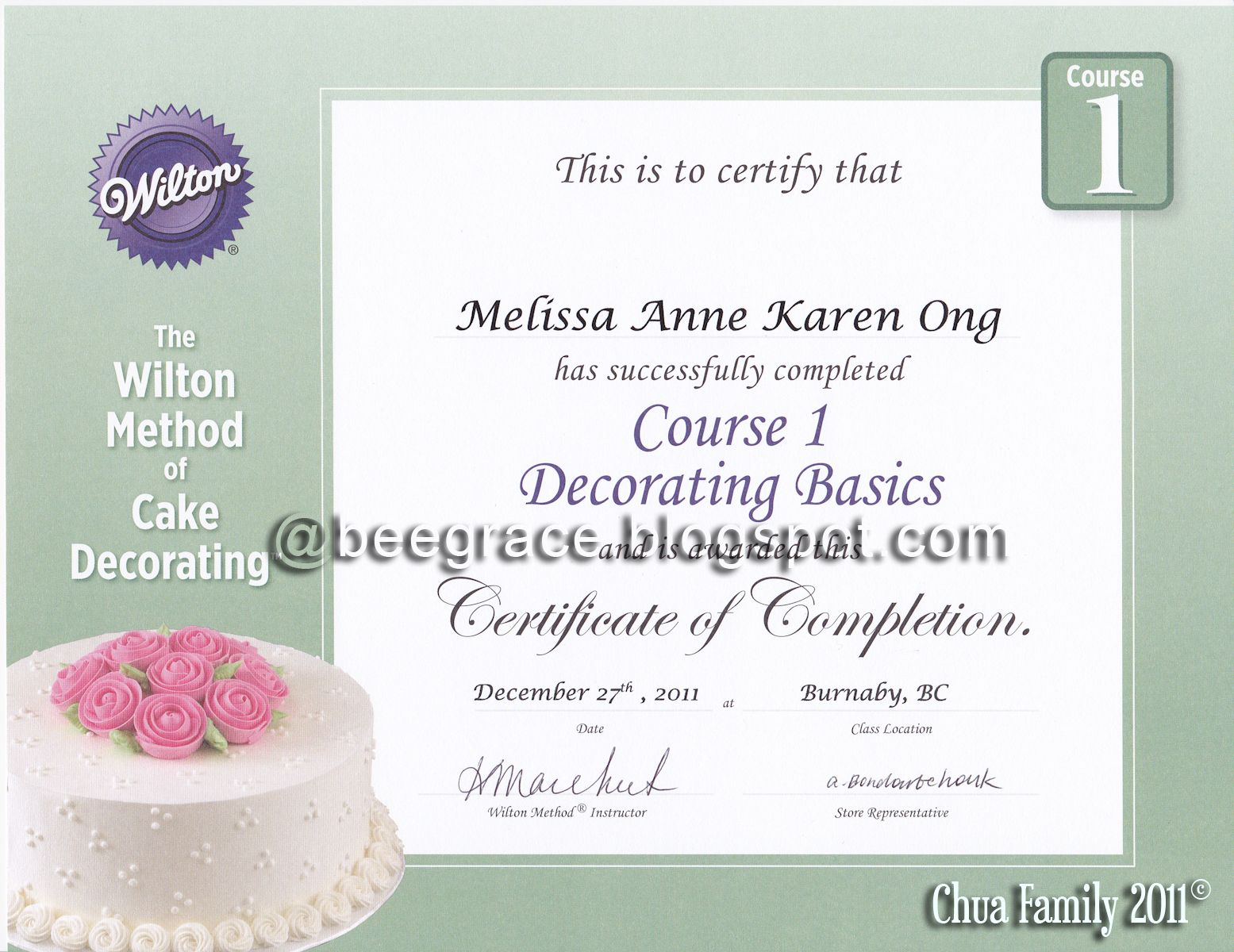 Treasured MOM-ents: Wilton Course 1- Completed!