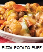PIZZA POTATO PUFF CASSEROLE