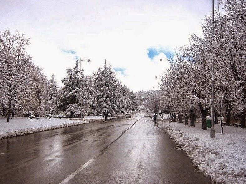 شوارع افران في الشتاء
