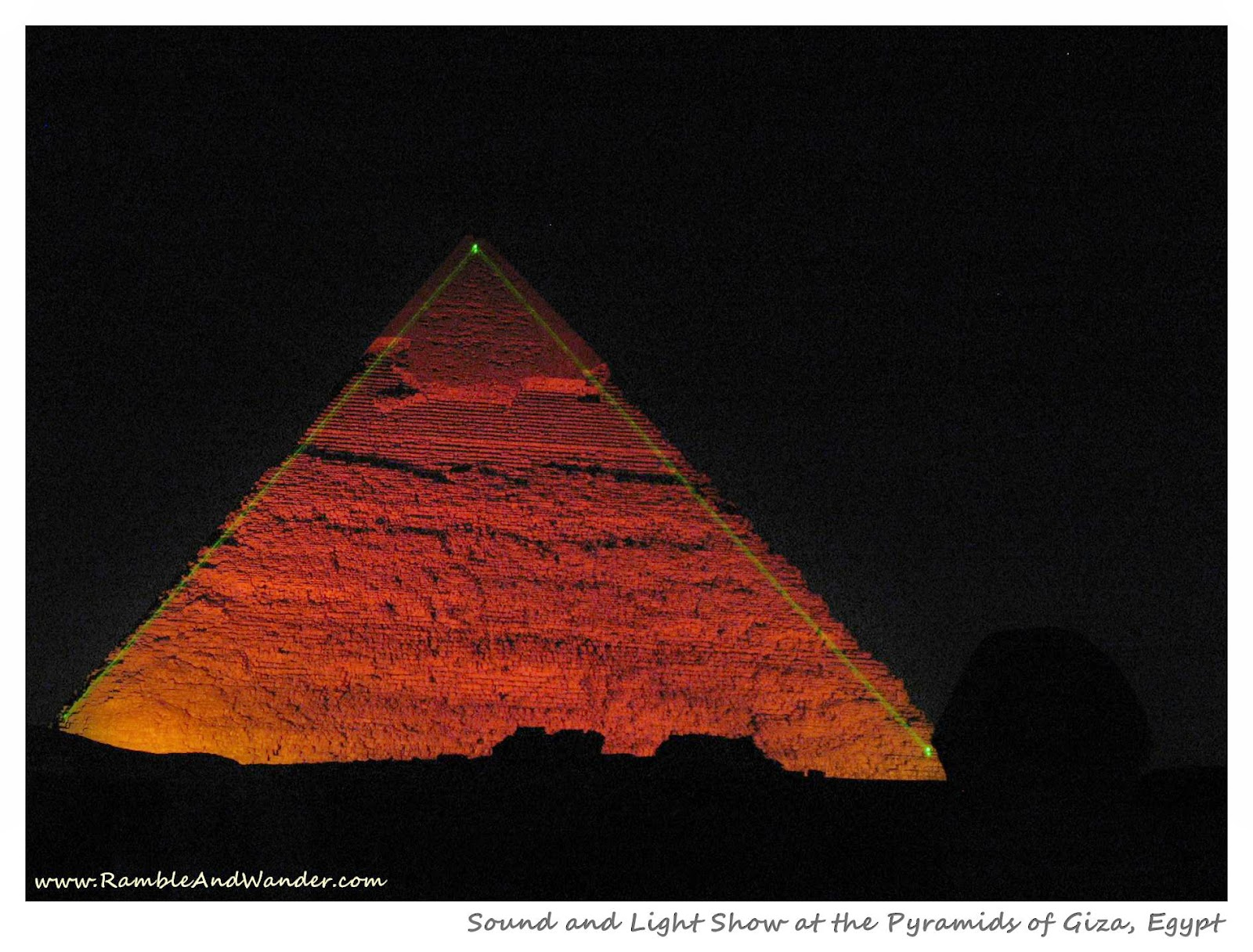 Sound and Light Show at the Pyramids of Giza, Egypt | www.rambleandwander.com