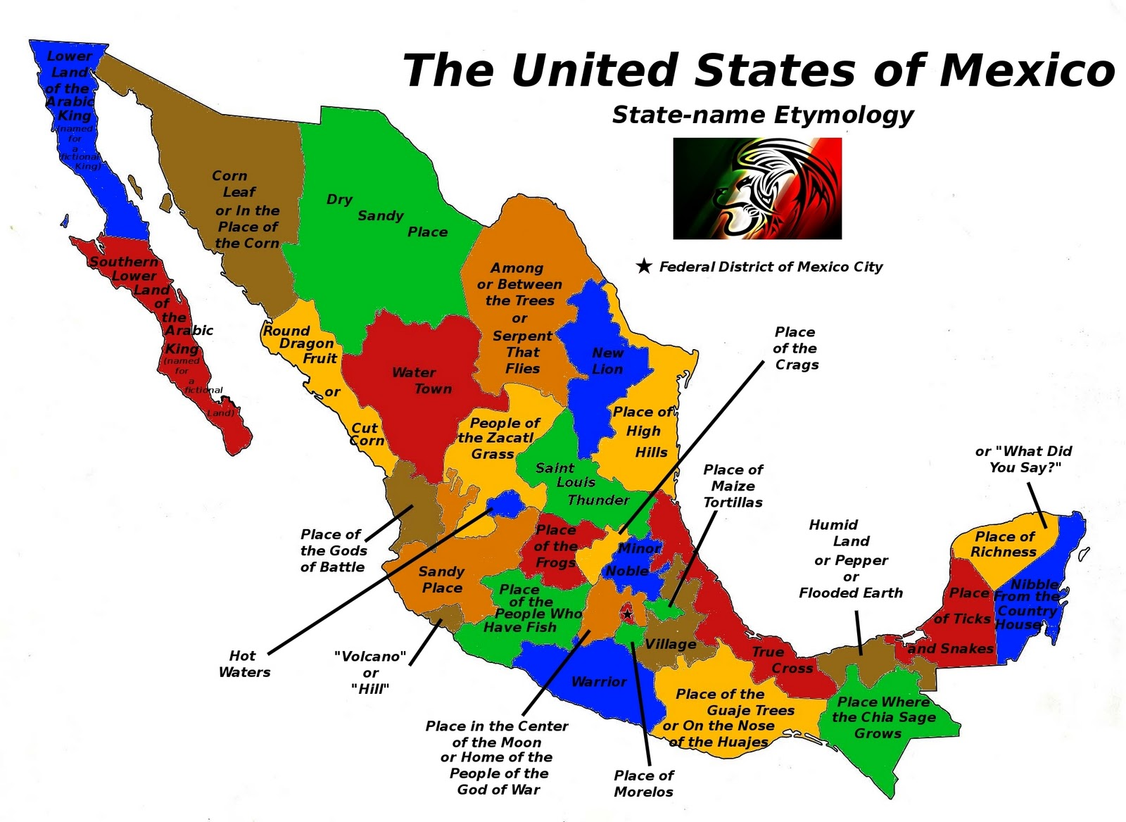 place name etymology of the modern mexican states mexico is not a failed state this image is just filler