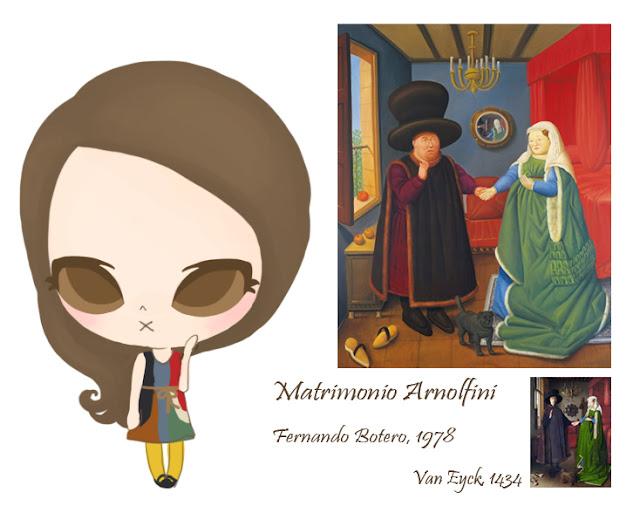 Fernando Botero- Matrimonio Arnolfini