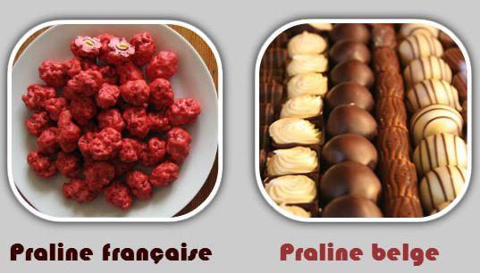 Différence entre praline française et praline belge