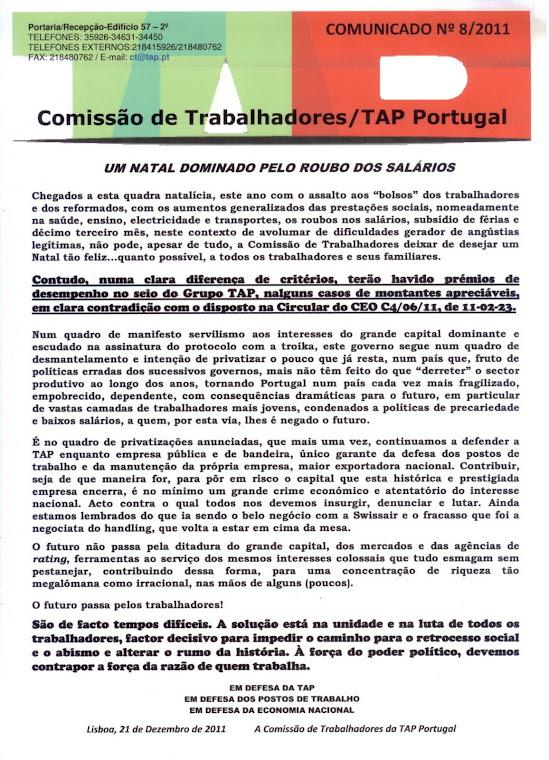 Comunicado 08/2011