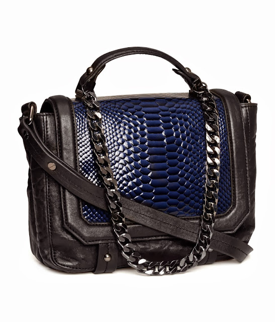 black and blue bag