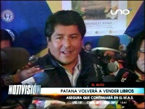 Edgar Patana volverá a vender libros en la feria 16 de julio