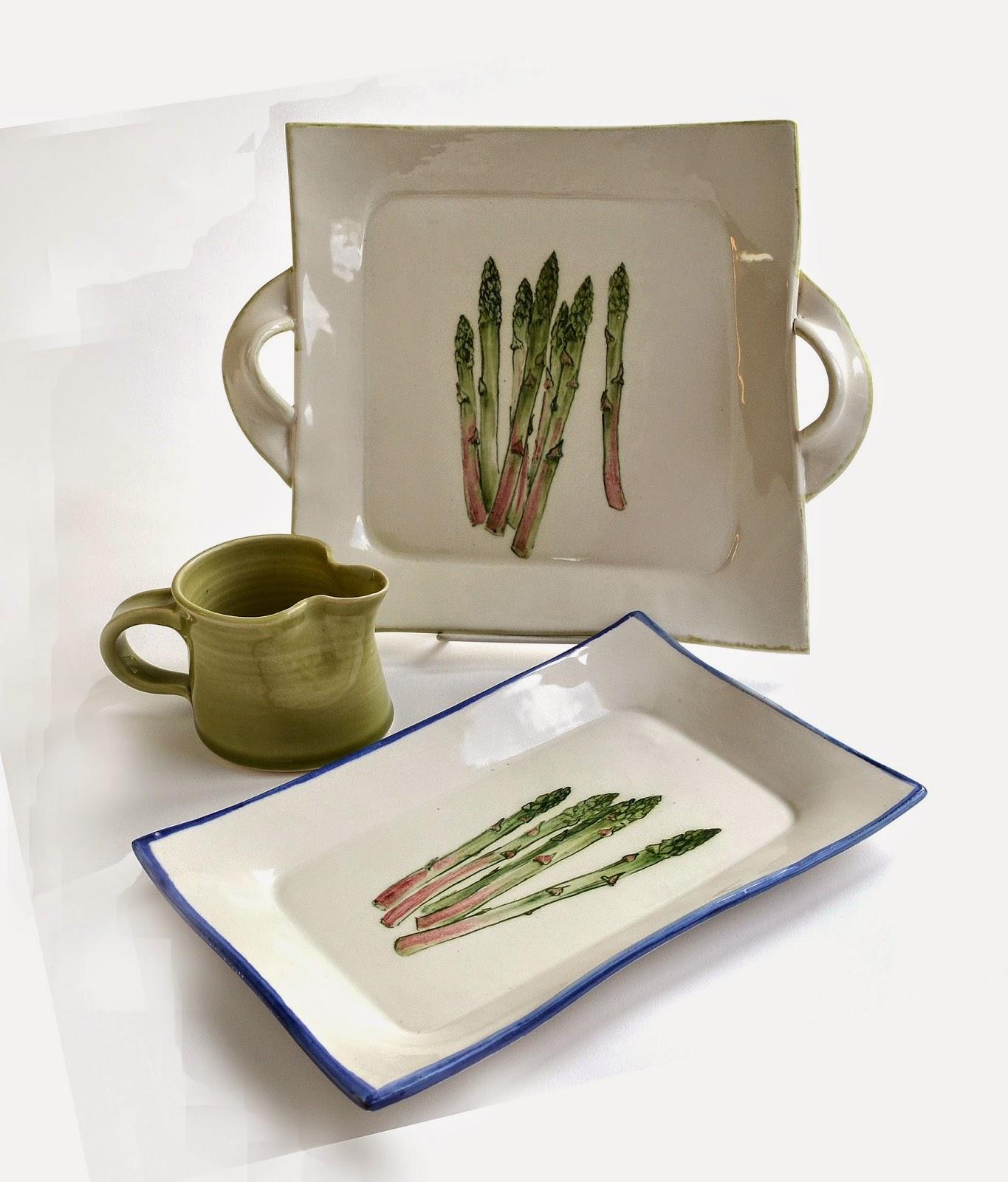 asparagus dish stoneware