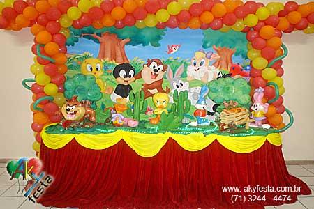 Imagenes de decoraciónes de fiestas infantile de looney toons - Imagui