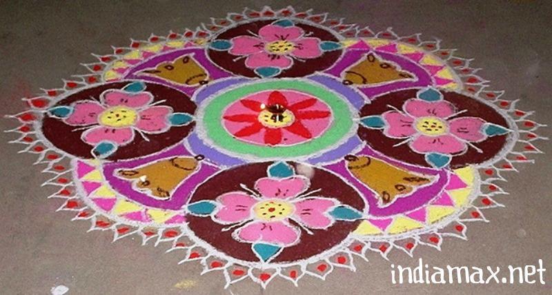 Rangoli Designs for Diwali Theme free Hand,Latest Deepavali Kolam