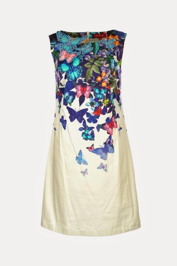 Απογευματινο βαμβακερο φορεμα με αναγλυφες πεταλουδες