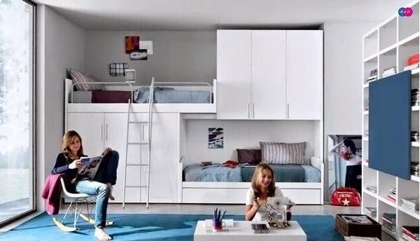 Tieners Minimalistische Ontwerp van de Slaapkamer | Huisontwerp