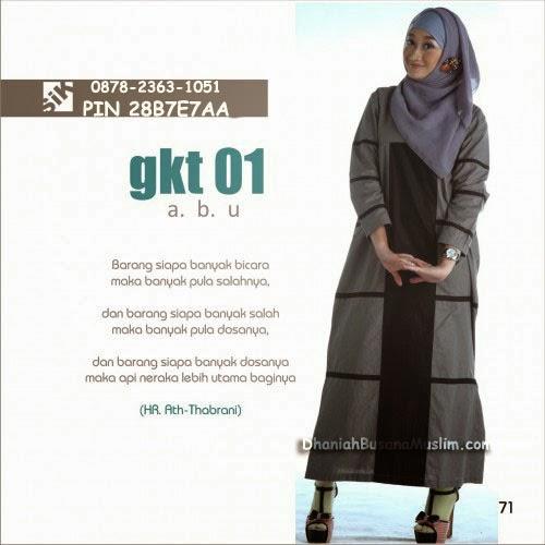 Gamis Sik Clothing GKT 01 Abu