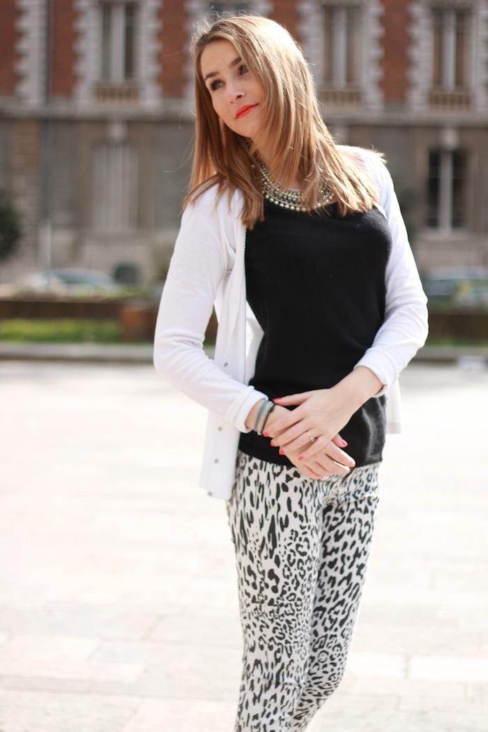 jeans imprimé léopard