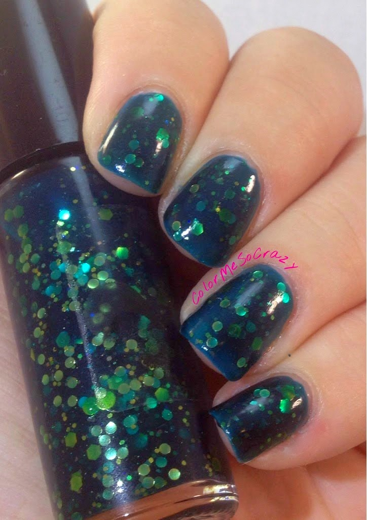 Swatches, Rhythm and Blue, Jindie Nails, jelly polish