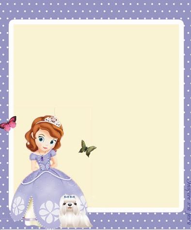 caratula para niñas princesa sofia