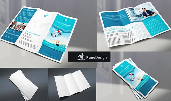 sharing tech free trifold brochure mock up for designer from pune
