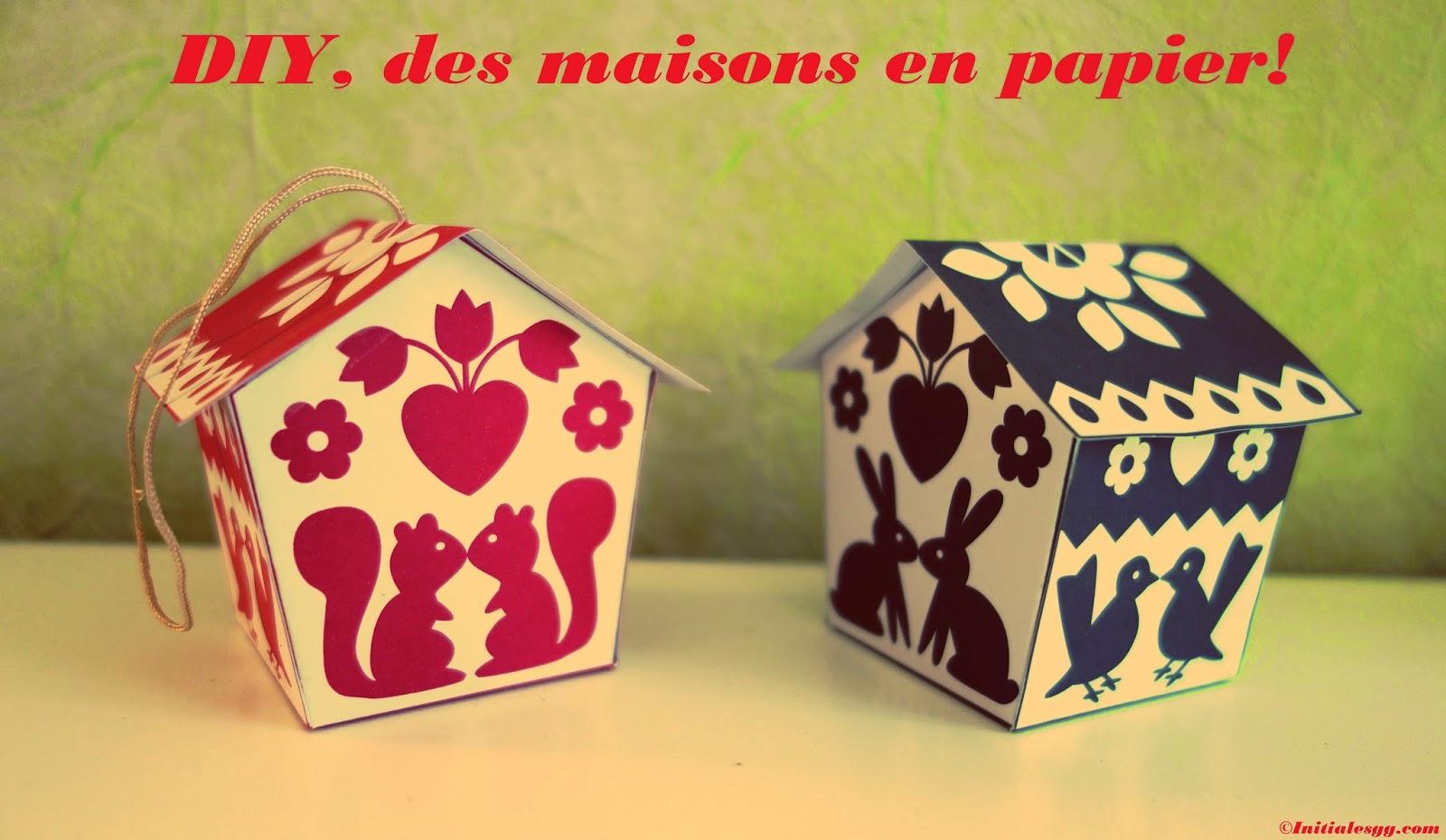 Diy des maisons color es imprimer vite fait - Patron de maison en papier a imprimer ...
