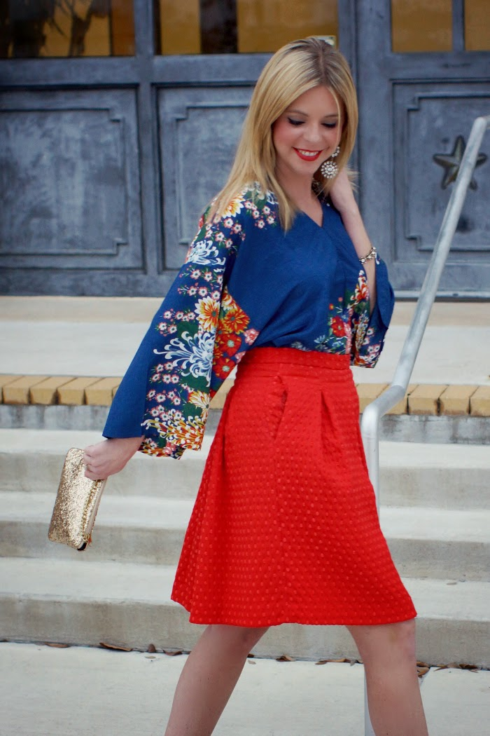 Tucking in a dress into a skirt style trick