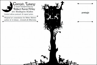 Cornish Litany Limited Edition postcard one of two (back side) by Robert Aaron Wiley