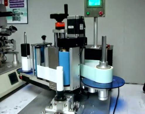 toothpaste cosmetic cream tubes labeling machine semi automatic tubo de la máquina de etiquetado