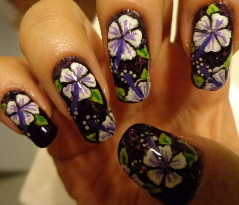 Nailed To The Post Nail Of The Week Handpainted Summer Hibiscus