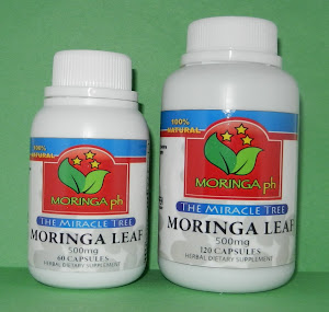 MORINGA ph 500 mg is available in 60 and 120 capsules per bottle