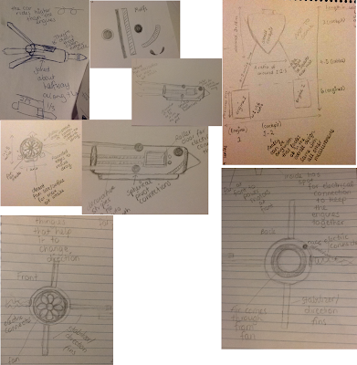 Rough pod racer designs - mostly hand-drawn in pencil