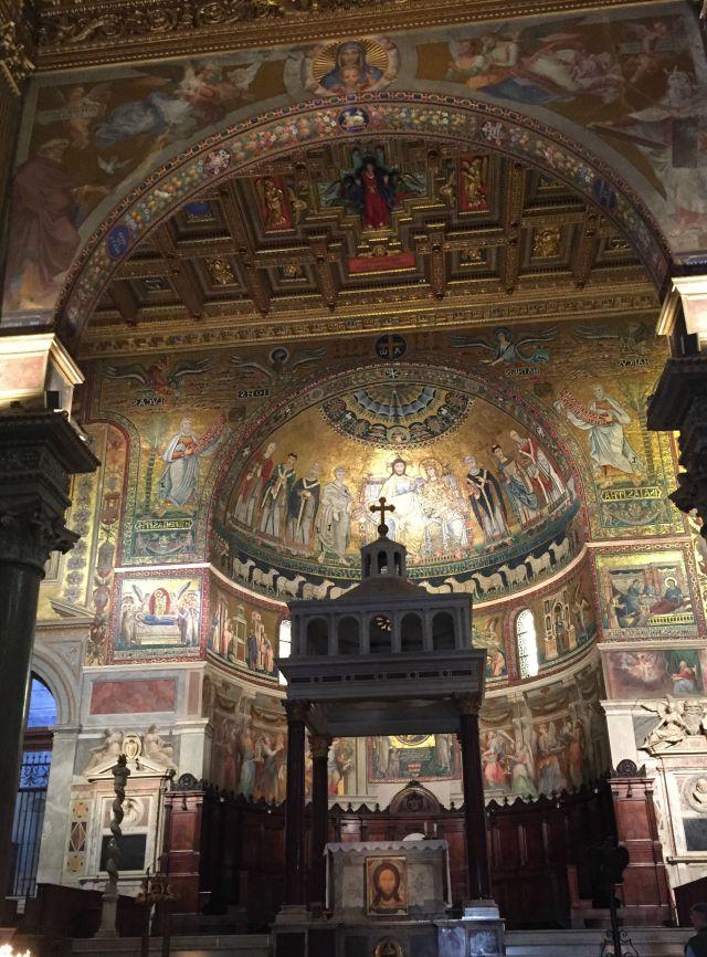 Mit Kindern in Rom - Besuch von Kirchen - Santa Maria Trastevere - mit Kindern in Rom unterwegs