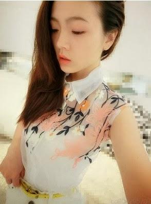 блуза из органзы с вышивкой