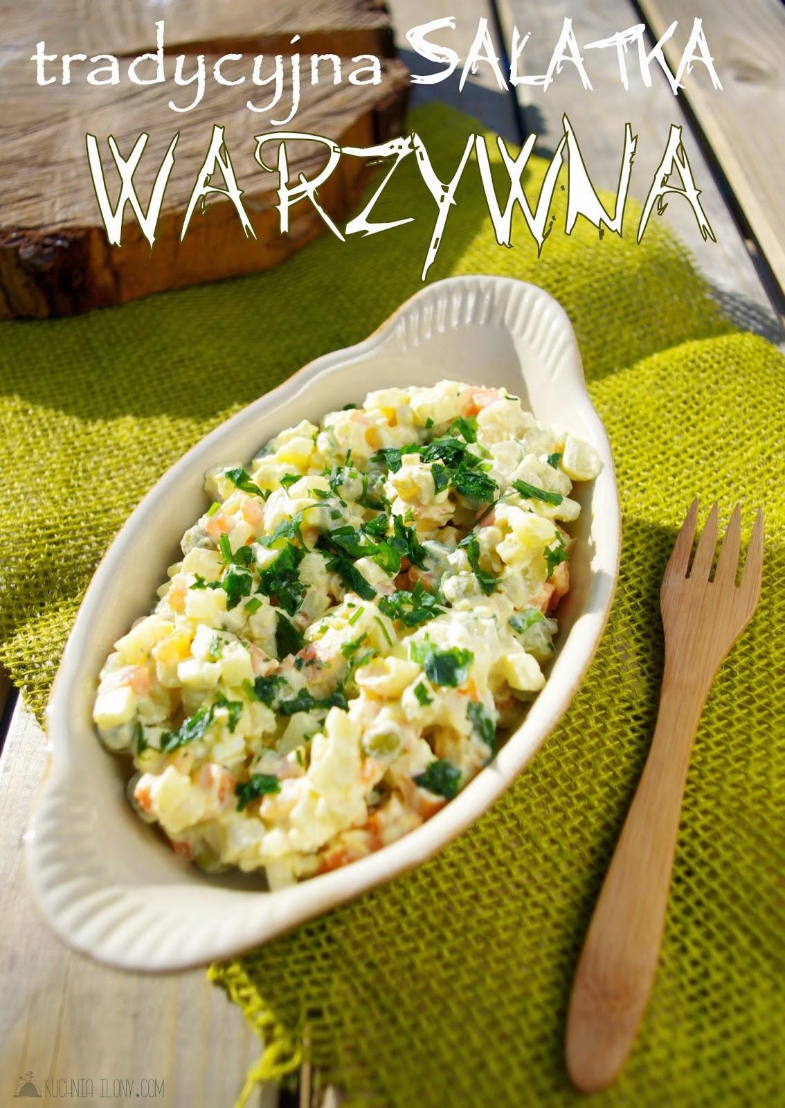 tradycyjna sałatka warzywna, sałatka jarzynowa, sałatka, kuchnia ilony, wielkanoc, boże narodzenie, wigilia