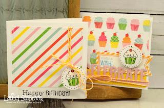 SRM Stickers Blog - Mini Birthday Cards by Laurel - #cards #mini #stickers #birthday #twine #labels #glassine bag