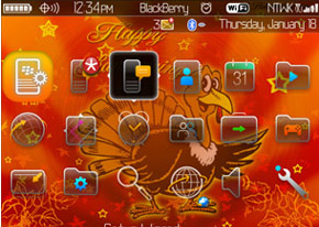 1 111122001Q90 L Thanksgiving Day for blackberry 89xx,96xx,9700 themes
